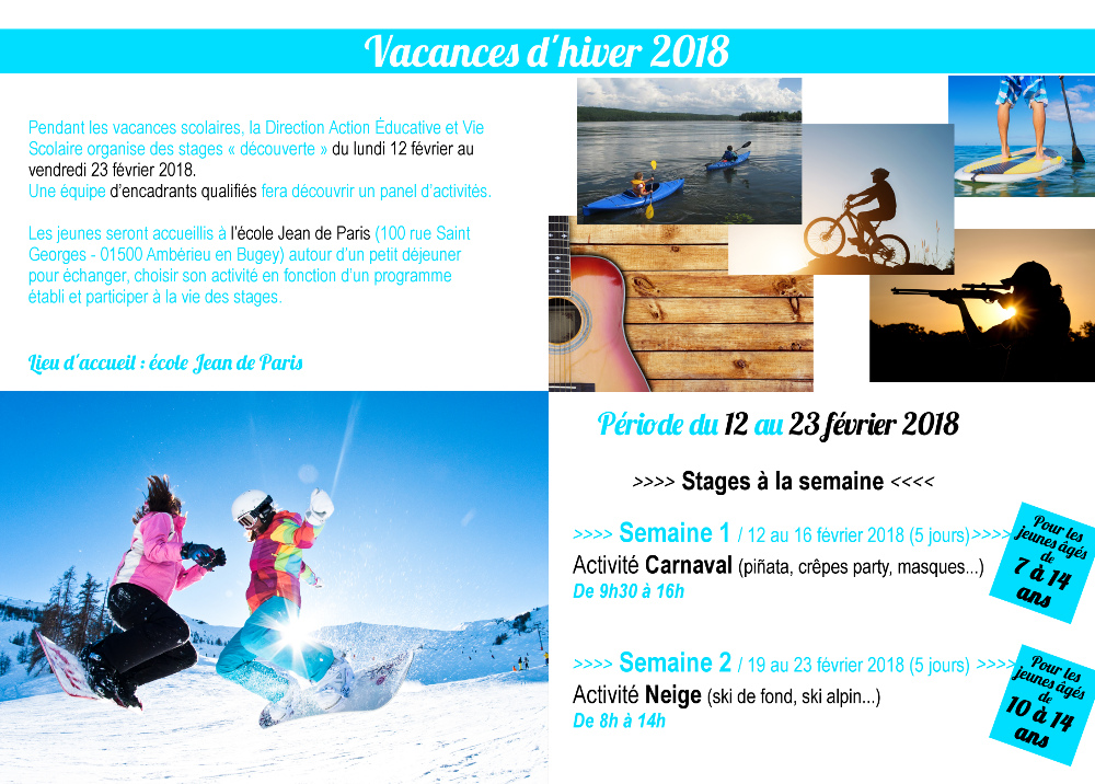 programme stages d'hiver